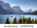 Scenic View Of Saint Mary Lake...