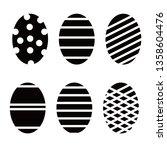 easter eggs vector icons set.... | Shutterstock .eps vector #1358604476