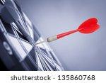 red dart arrow in center of... | Shutterstock . vector #135860768