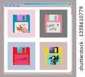 Aesthetic Floppy Disk Icon Set...