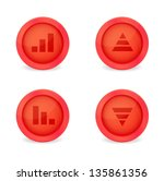 financial graph set on glossy... | Shutterstock .eps vector #135861356