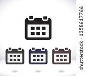 calendar 1 icon  vector 10 eps... | Shutterstock .eps vector #1358617766