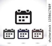 calendar 1 icon  vector 10 eps... | Shutterstock .eps vector #1358617889