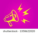vintage yellow megaphone on a... | Shutterstock .eps vector #1358622020