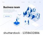 business team metaphor... | Shutterstock .eps vector #1358632886