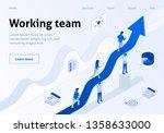 working team metaphor business... | Shutterstock .eps vector #1358633000