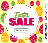 easter sale promo template.... | Shutterstock . vector #1358643773