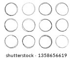 hand drawn circles. round... | Shutterstock .eps vector #1358656619