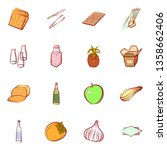 food images. background for... | Shutterstock .eps vector #1358662406