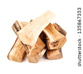 stack of firewood isolated on... | Shutterstock . vector #135867353