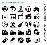 entertainment vector icon set | Shutterstock .eps vector #1358680976