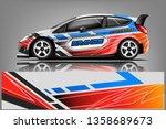 car decal wrap design vector....   Shutterstock .eps vector #1358689673