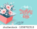 happy mothers day beautiful... | Shutterstock .eps vector #1358702513