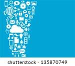 social media background ... | Shutterstock .eps vector #135870749