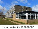 exterior of secondary school... | Shutterstock . vector #135870806
