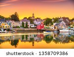 portsmouth  new hampshire  usa... | Shutterstock . vector #1358709386