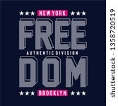 freedom design typography... | Shutterstock .eps vector #1358720519