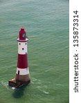 famous lighthouse on beachy...   Shutterstock . vector #135873314