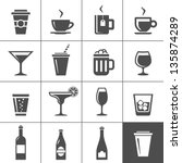 drinks and beverages icon set.... | Shutterstock .eps vector #135874289