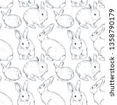 vector seamless pattern with... | Shutterstock .eps vector #1358790179