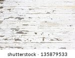 Wooden Wall With White Paint I...