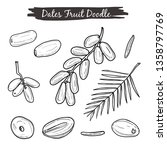 dates fruit hand drawing... | Shutterstock .eps vector #1358797769