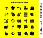 business concepts solid glyph...