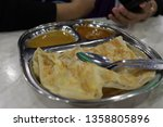 isolated shot of roti canai ... | Shutterstock . vector #1358805896