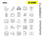 hotel line icons set for...