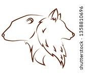 cute animals draw   Shutterstock .eps vector #1358810696