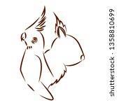 cute animals draw   Shutterstock .eps vector #1358810699