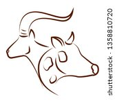 cute animals draw | Shutterstock .eps vector #1358810720