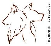 cute animals draw   Shutterstock .eps vector #1358810723