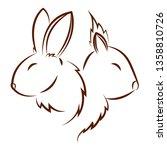 cute animals draw   Shutterstock .eps vector #1358810726