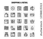 shopping line icon pack for...