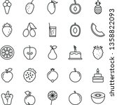 thin line vector icon set  ... | Shutterstock .eps vector #1358822093