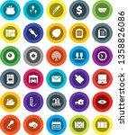 white solid icon set  colander... | Shutterstock .eps vector #1358826086