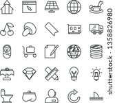 thin line vector icon set  ... | Shutterstock .eps vector #1358826980