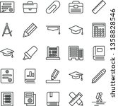 thin line vector icon set  ... | Shutterstock .eps vector #1358828546