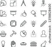 thin line vector icon set  ... | Shutterstock .eps vector #1358828600