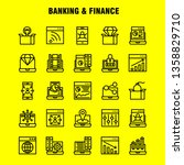 banking line icon pack for...