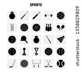 sports  solid glyph icons set... | Shutterstock .eps vector #1358829809