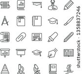 thin line vector icon set  ... | Shutterstock .eps vector #1358837246