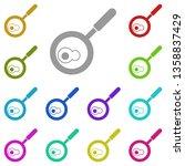 scrambled eggs multi color icon.... | Shutterstock .eps vector #1358837429