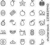 thin line vector icon set  ... | Shutterstock .eps vector #1358839940