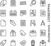 thin line vector icon set   add ... | Shutterstock .eps vector #1358839946