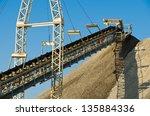 outdoor rock conveyor belt | Shutterstock . vector #135884336