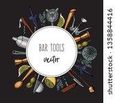 bartender equipment for making... | Shutterstock .eps vector #1358844416
