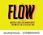 vector of stylized modern font... | Shutterstock .eps vector #1358844443