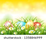 yellow nature background and... | Shutterstock .eps vector #1358846999